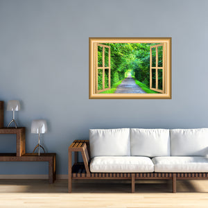 VWAQ 3D Forest Wall Decals Scenic Window Cling Peel and Stick Mural - NW50 - VWAQ Vinyl Wall Art Quotes and Prints