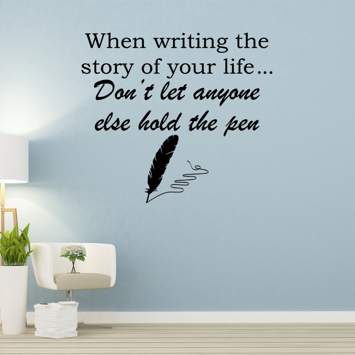 VWAQ When Writing The Story of Your Life Vinyl Quotes Wall Decal - VWAQ Vinyl Wall Art Quotes and Prints