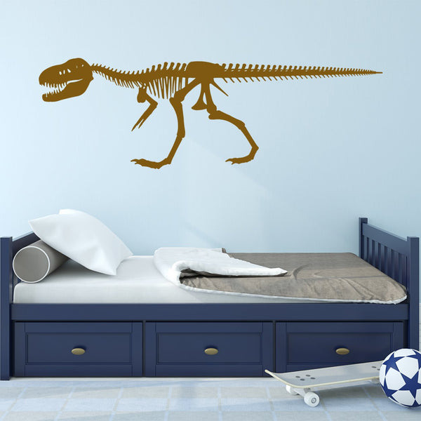 VWAQ Dinosaur Skeleton Wall Decals for Boys Room T-Rex Skeleton Sticker - VWAQ Vinyl Wall Art Quotes and Prints