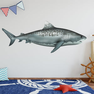 VWAQ Tiger Shark Vinyl Decal | Ocean Animals Wall Stickers - NA03