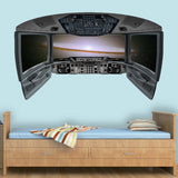 VWAQ Spaceship Window Cockpit Wall Decal | Universe Wall Mural Kids Space Room Decor - CP29 - VWAQ Vinyl Wall Art Quotes and Prints
