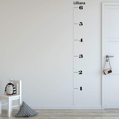 VWAQ Personalized Growth Chart Decal | Custom Height Chart for Kids - GC02