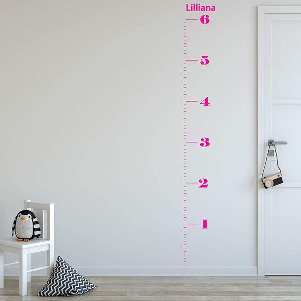 VWAQ Personalized Growth Chart Decal | Custom Height Chart for Kids - GC02 - VWAQ Vinyl Wall Art Quotes and Prints