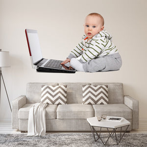 Baby Funny Wall Decal - Humorous Wall Decor Stickers - FWP4 - VWAQ Vinyl Wall Art Quotes and Prints