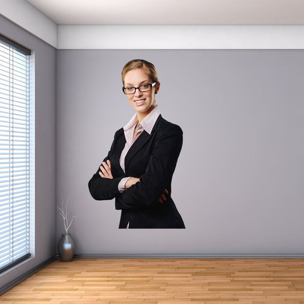 VWAQ Business Woman Wall Decal | Peel and Stick Vinyl Wall Sticker - FWP5 - VWAQ Vinyl Wall Art Quotes and Prints