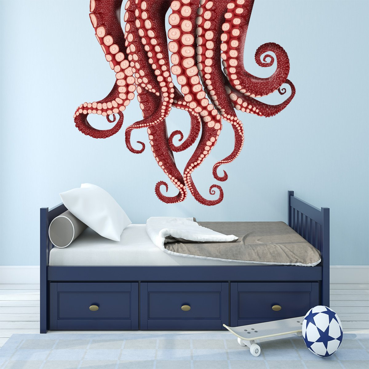 VWAQ Kraken Wall Sticker - Vinyl Octopus Tentacles Decal - Sea Monster Decorations - NA05 - VWAQ Vinyl Wall Art Quotes and Prints