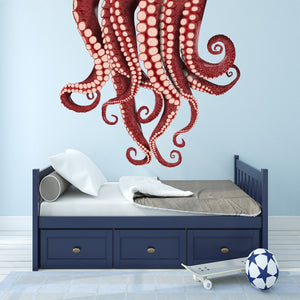 VWAQ Kraken Wall Sticker - Vinyl Octopus Tentacles Decal - Sea Monster Decorations - NA05