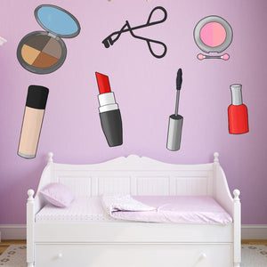 VWAQ Makeup Wall Decals - Cosmetic Wall Decor Stickers - PAS27