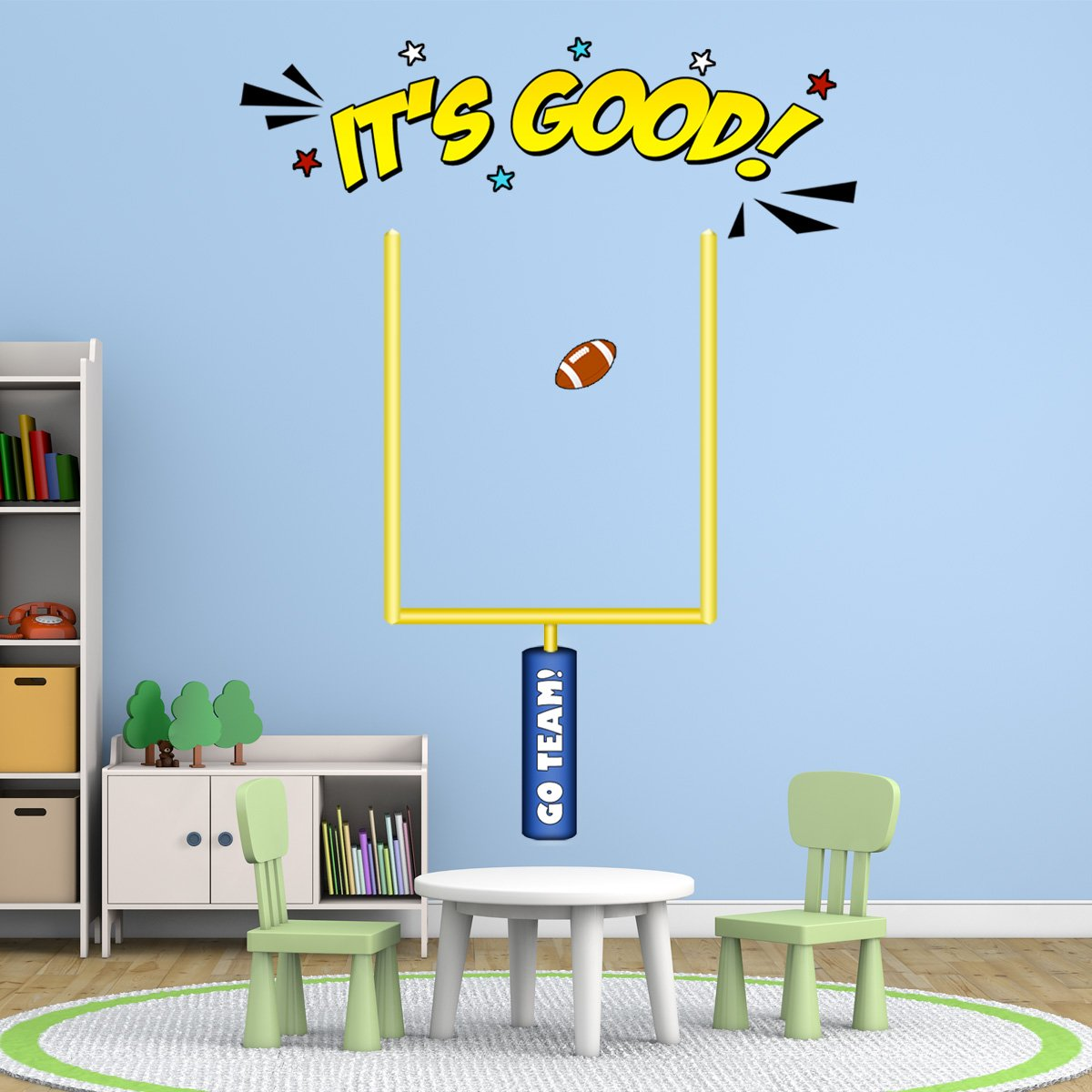VWAQ Field Goal Post Decal - Football Wall Decals for Boys Room Decor -  PAS28