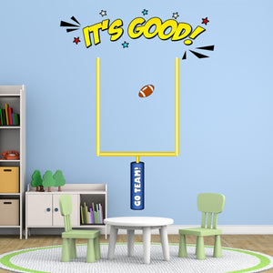VWAQ Field Goal Post Decal - Football Wall Decals for Boys Room Decor - PAS28 - VWAQ Vinyl Wall Art Quotes and Prints