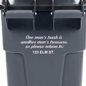 VWAQ One Man's Trash is Another Man's Treasure Garbage Can Decal - TC2
