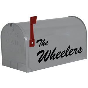 VWAQ Mailbox Custom Name Decal - Personalized Mailbox Name Letters Sticker - CMB14