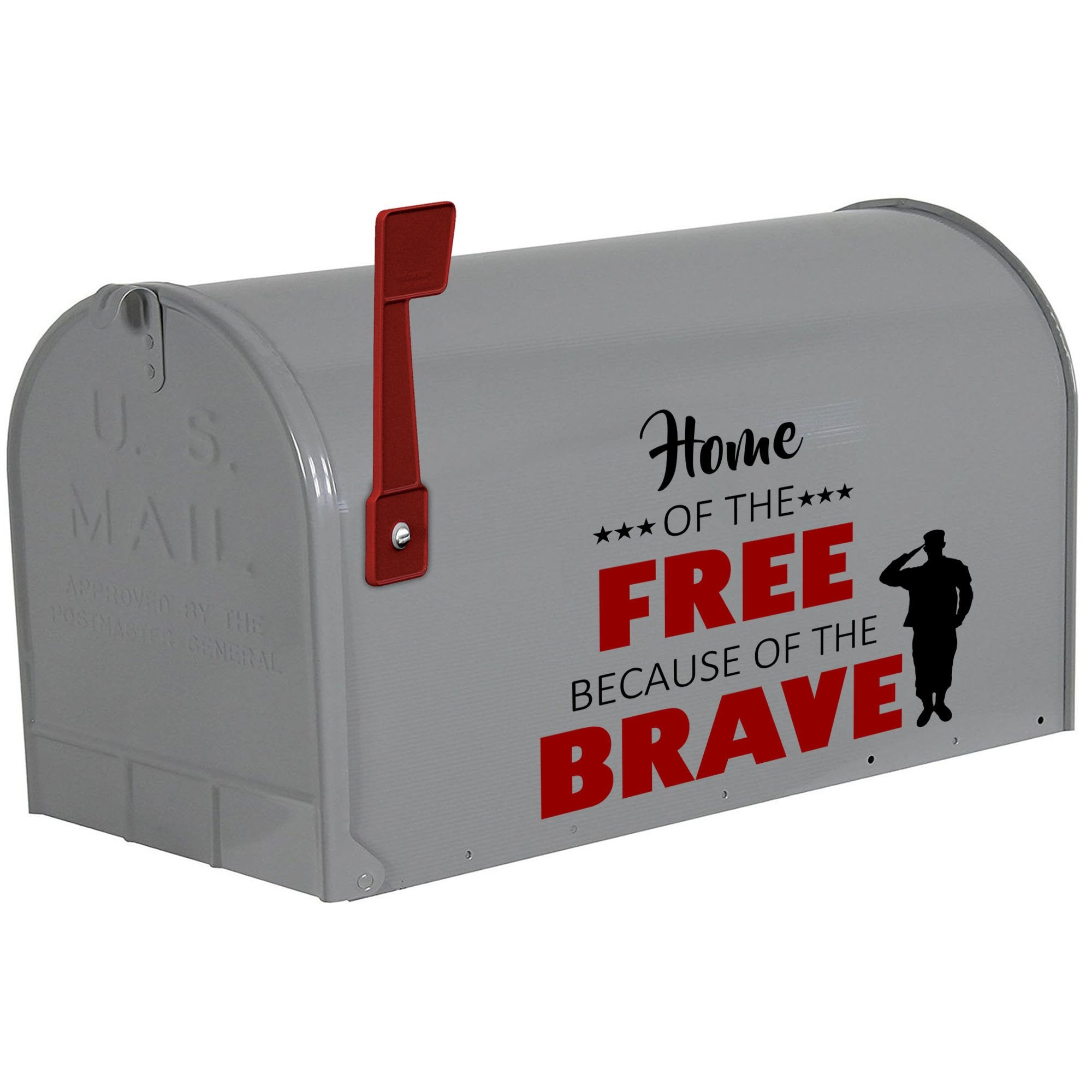 VWAQ Home of The Free Because of The Brave Decal for Mailbox Patriotic Decorations - VWAQ Vinyl Wall Art Quotes and Prints