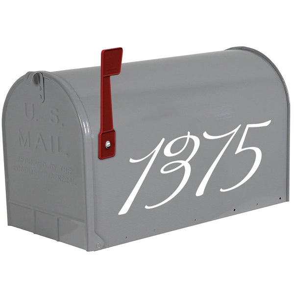 VWAQ Personalized Mailbox Address Decals - Custom House Numbers Vinyl - CMB24