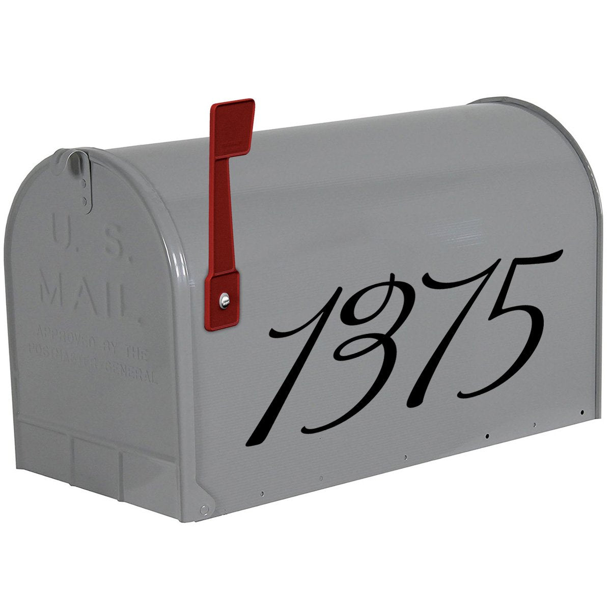 VWAQ Personalized Mailbox Address Decals - Custom House Numbers Vinyl - CMB24 - VWAQ Vinyl Wall Art Quotes and Prints
