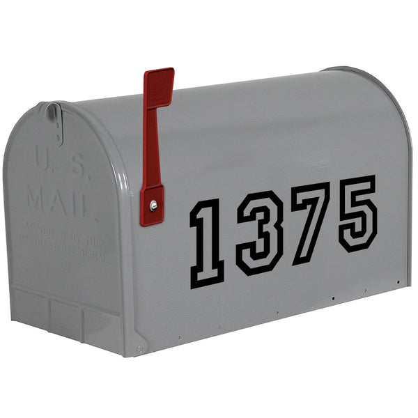 VWAQ Mailbox Vinyl Numbers Decals - Custom House Address Personalized Stickers - CMB22