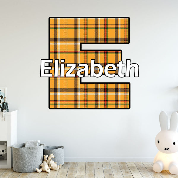 VWAQ Custom Name Lumberjack Wall Stickers for Bedroom - Plaid Vinyl Decal Kids Room Decor - CM8 - VWAQ Vinyl Wall Art Quotes and Prints