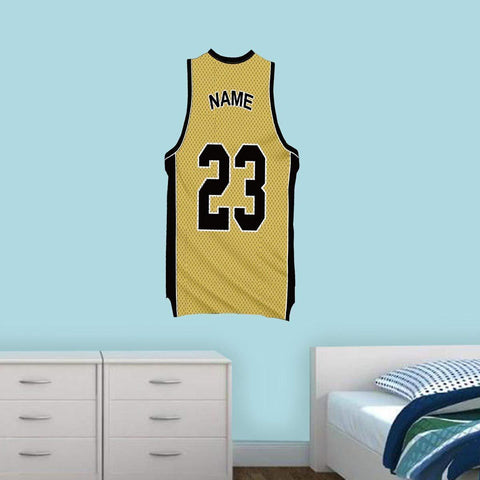 Custom Basketball Jersey Removable Wall Decal Personalized Name and Number - BB5 - VWAQ Vinyl Wall Art Quotes and Prints