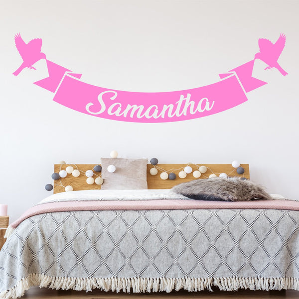 VWAQ Wall Decal Custom Name - Birds Vinyl Wall Art - Personalized Name Decor - CS7 - VWAQ Vinyl Wall Art Quotes and Prints