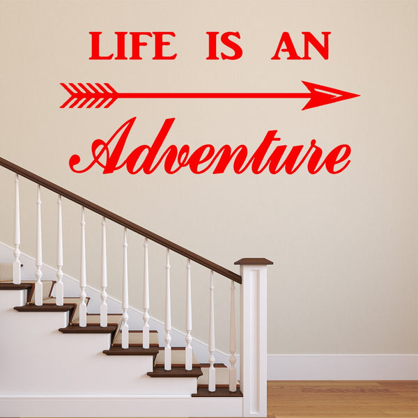 VWAQ Life is an Adventure Vinyl Wall Decal - Adventurer Wall Art Decor