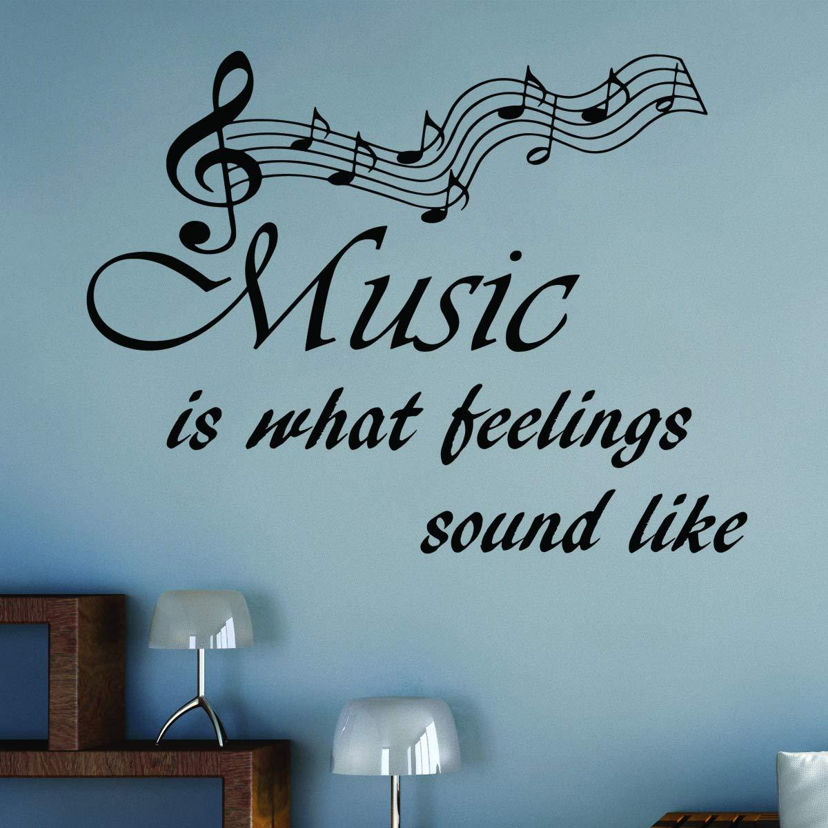 VWAQ Music is What Feelings Sound Like Wall Quotes Decal - VWAQ Vinyl Wall Art Quotes and Prints