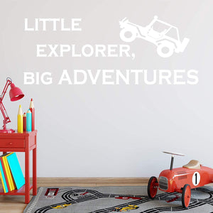 VWAQ Little Explorer, Big Adventures Kids Bedroom Wall Quotes Decal