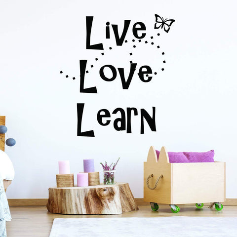VWAQ Live Love Learn Educational Wall Quotes Decal