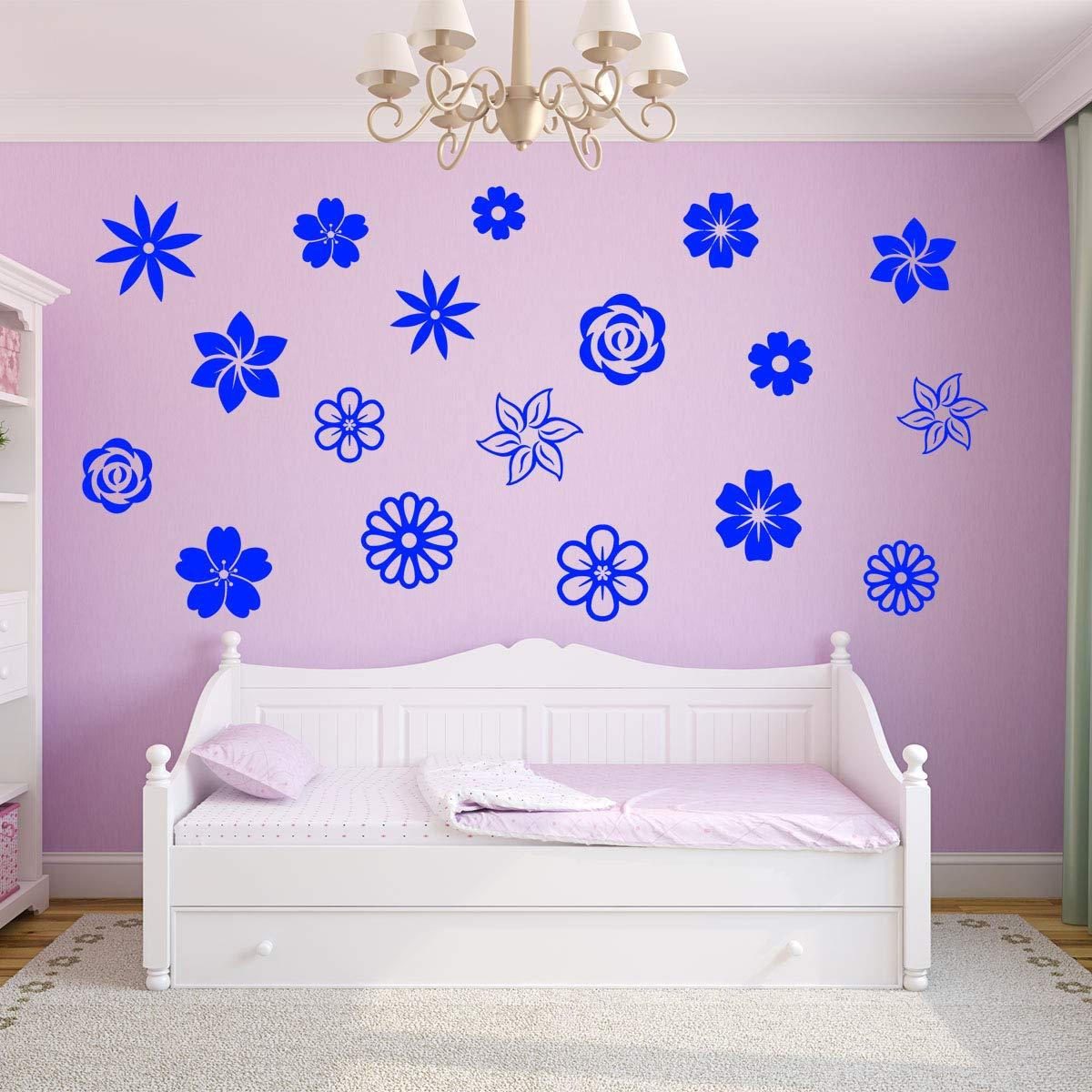 VWAQ Flower Decals for Wall Nursery - Wall Stickers Decor - VWAQ Vinyl Wall Art Quotes and Prints
