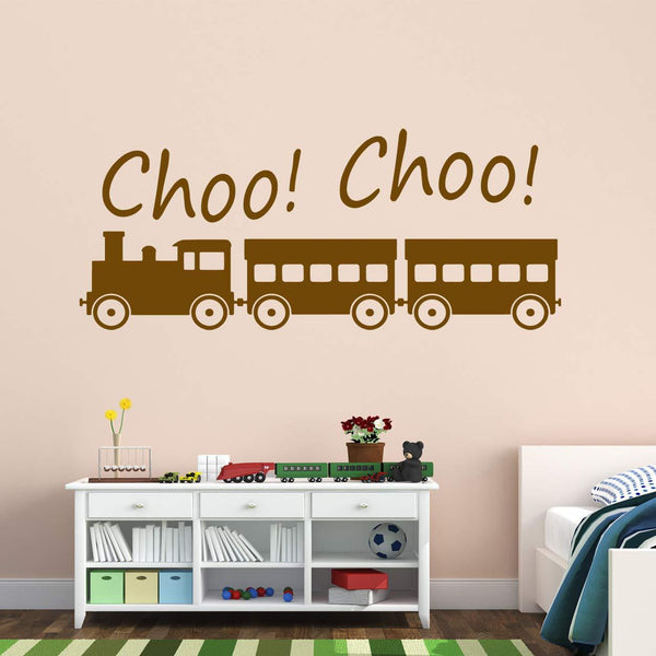 VWAQ Choo Choo Train Vinyl Wall Decal - VWAQ Vinyl Wall Art Quotes and Prints