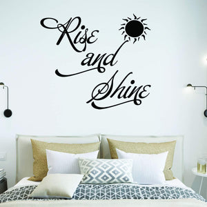 VWAQ Rise and Shine Bedroom Quotes Wall Decal