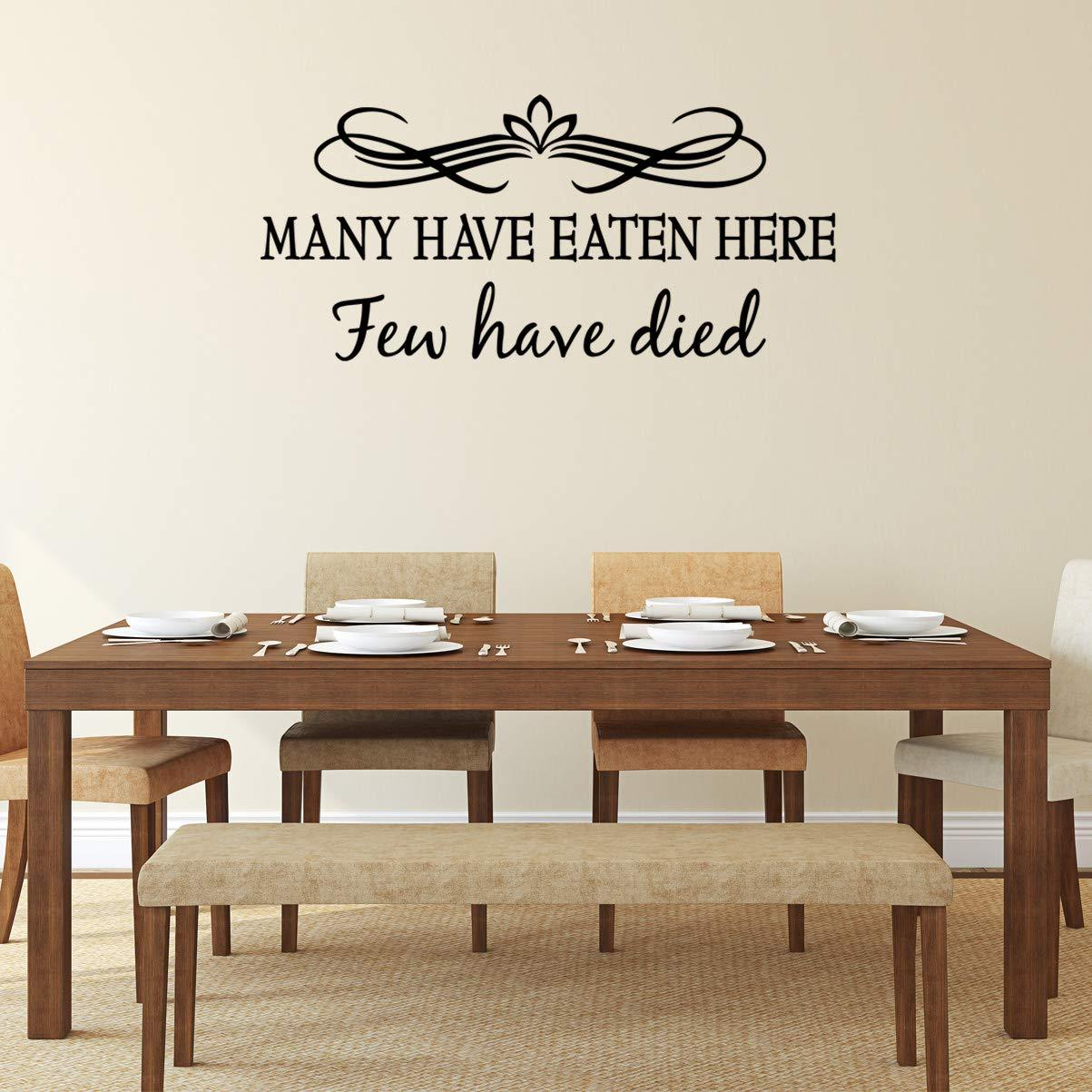 VWAQ Many Have Eaten Here Few Have Died Dining Room Quotes Wall Decal