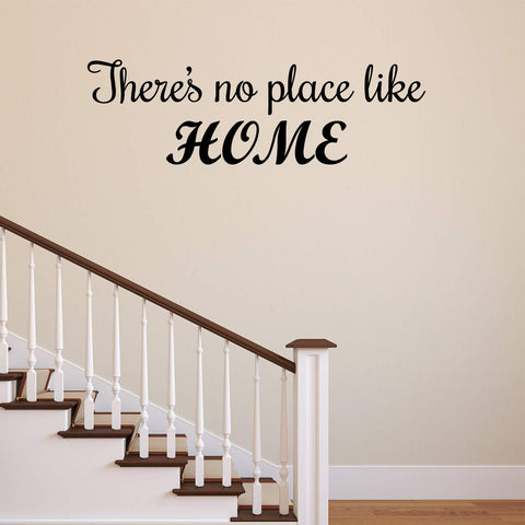 VWAQ There's No Place Like Home House Quotes Wall Decal