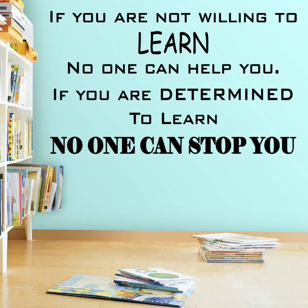 VWAQ If You are Not Willing to Learn No One Can Help You Classroom Quotes Wall Decal - VWAQ Vinyl Wall Art Quotes and Prints