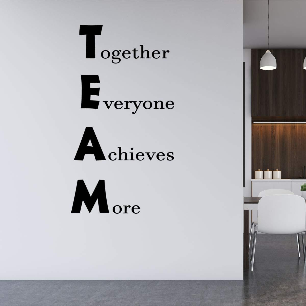 VWAQ Team - Together Everyone Achieves More Office Wall Quotes Decal - VWAQ Vinyl Wall Art Quotes and Prints