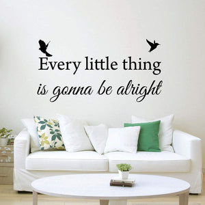 VWAQ Every Little Thing is Gonna Be Alright Bob Marley Wall Quotes Decal - VWAQ Vinyl Wall Art Quotes and Prints