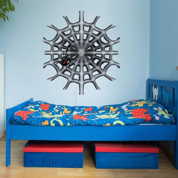 VWAQ Black Widow Spider Web Wall Decals Kids Bedroom Peel and Stick Decor - HOL14 - VWAQ Vinyl Wall Art Quotes and Prints