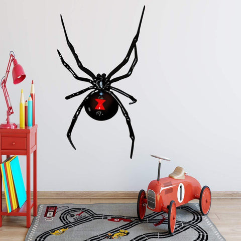 VWAQ Black Widow Wall Decal Spider Vinyl Sticker Peel and Stick Kids Decor - HOL5 - VWAQ Vinyl Wall Art Quotes and Prints