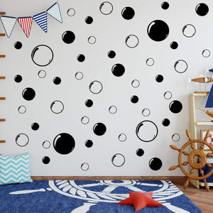 VWAQ Bubbles Wall Stickers - Bathroom Decals Peel and Stick Decor - 52 PCS - VWAQ Vinyl Wall Art Quotes and Prints