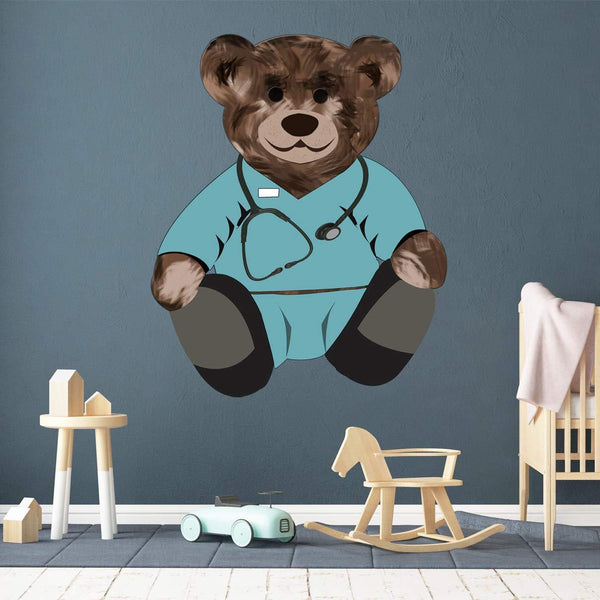 VWAQ Doctor Teddy Bear Wall Decal - Nursery Stickers Stuffed Animal Decor - TEB2 - VWAQ Vinyl Wall Art Quotes and Prints