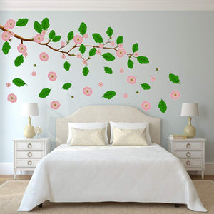 VWAQ Flower Tree Wall Decal - Leaves Stickers Tree Branch Decor 76 PCS - HOL25 - VWAQ Vinyl Wall Art Quotes and Prints