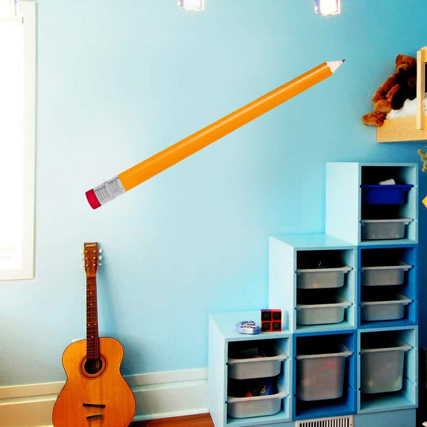 VWAQ Pencil Wall Decal - Peel and Stick Classroom Stickers School Decor for Teachers - HOL22 - VWAQ Vinyl Wall Art Quotes and Prints
