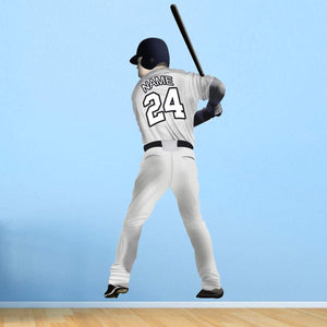 VWAQ Personalized Baseball Player Name and Jersey Number Right Handed Batter - CBPR - VWAQ Vinyl Wall Art Quotes and Prints