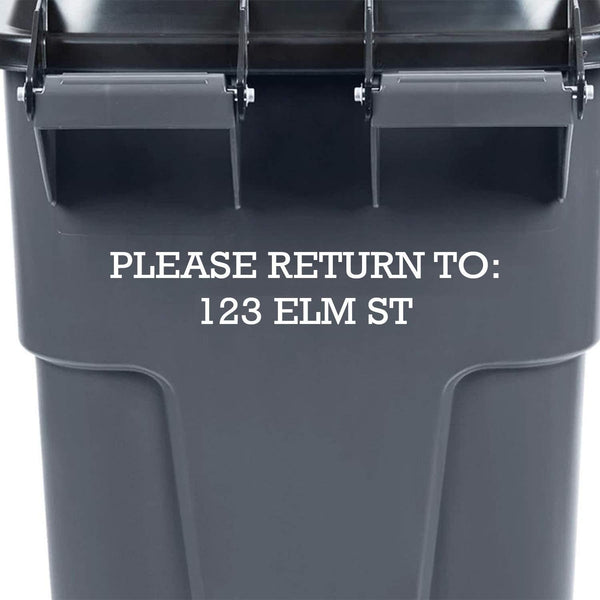 VWAQ Personalized Trash Can Stickers Numbers Street Address Garbage Bin Decal Please Return to - TC7 - VWAQ Vinyl Wall Art Quotes and Prints