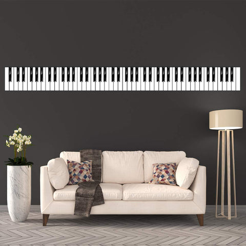 VWAQ Piano Keys Wall Decal - Musical Instrument Decor - Peel and Stick Reusable Vinyl Sticker - HOL6 - VWAQ Vinyl Wall Art Quotes and Prints