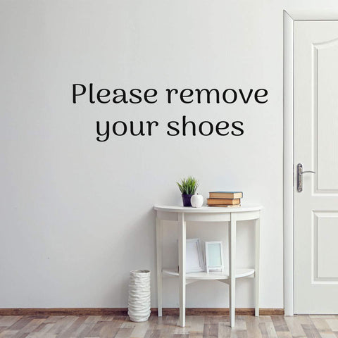 VWAQ Please Remove Your Shoes Wall Decal Entryway Decor Mudroom Decoration - VWAQ Vinyl Wall Art Quotes and Prints