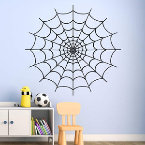 VWAQ Spider Web Wall Decals for Bedroom - Vinyl Sticker Halloween Decor - VWAQ Vinyl Wall Art Quotes and Prints