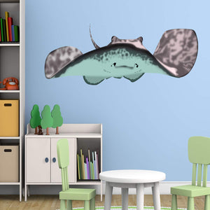 VWAQ Stingray Wall Decal Manta Ray Vinyl Sticker Kids Room Ocean Decor - HOL10