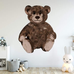 VWAQ Teddy Bear Wall Decals for Nursery - Cute Kids Room Sticker Decor - TEB1