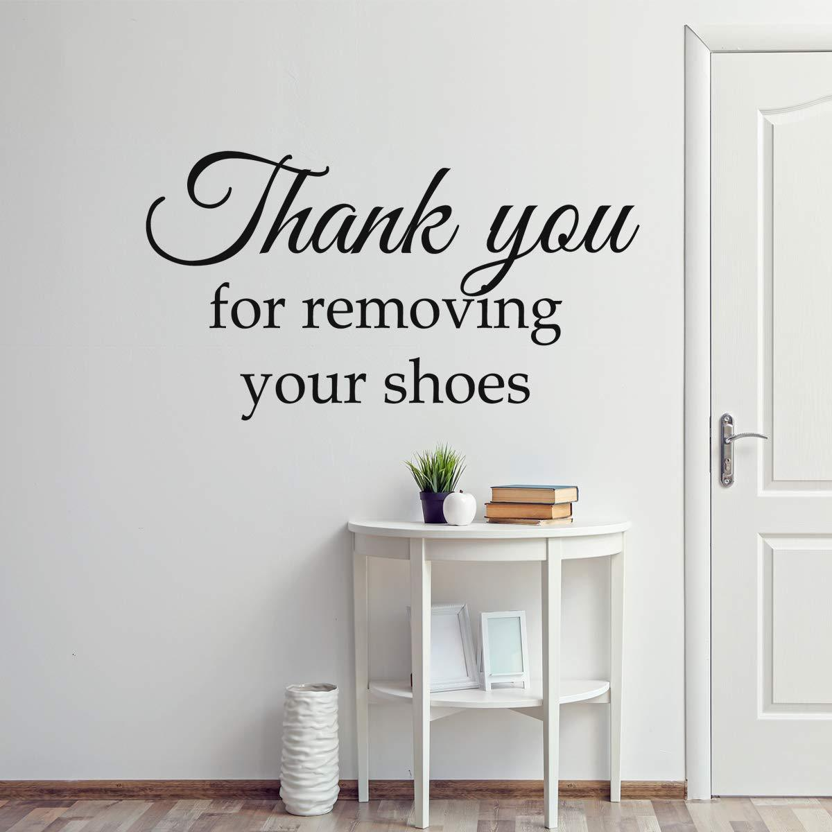 VWAQ Thank You for Removing Your Shoes Wall Decal Entryway Decor Mudroom Decoration - VWAQ Vinyl Wall Art Quotes and Prints