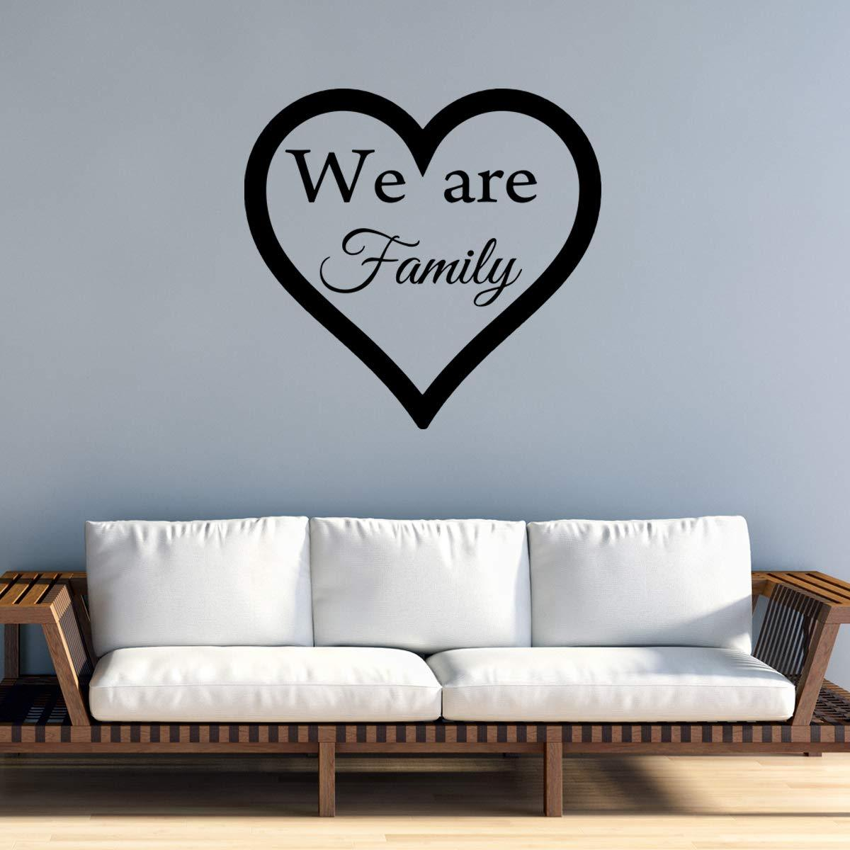 VWAQ We are Family Wall Decal Home Decor Vinyl Quotes Heart Love Wall Art - VWAQ Vinyl Wall Art Quotes and Prints